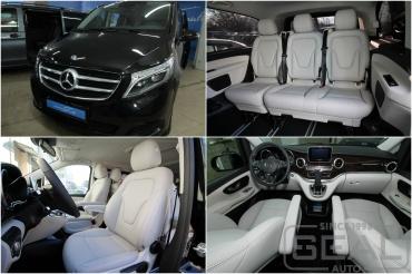 Mercedes V-klasse Пошив кожаного салона