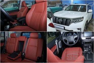 Toyota Land Cruiser Prado 150 Пошив кожаного салона